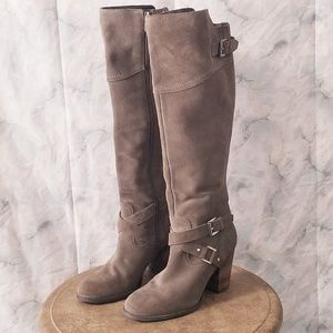 Taupe suede knee high boots by Guess sz 8